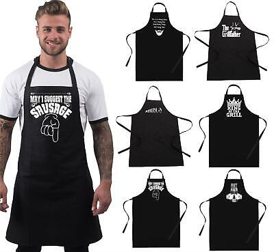 Funny BBQ Apron Novelty Grilling Fathers Day Gift Ideas Kitchen Apron for Men