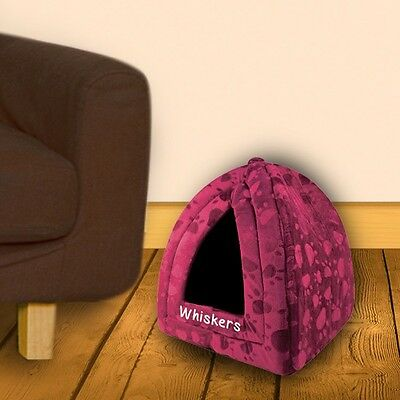 Personalised Pyramid Pet House, Cat or Dog Bed, Add Pets Name, 4 Colours