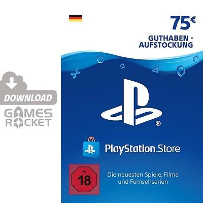 75€ PSN DE Playstation Network Code Card 75 Euro € EUR PS4 PS3 Vita Guthaben 50