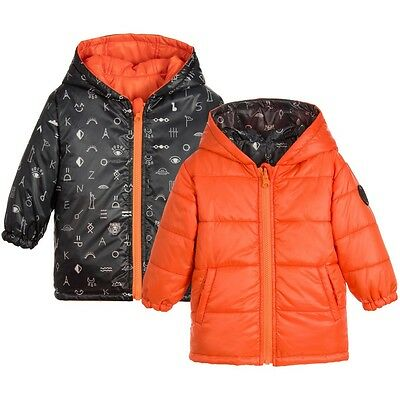 Kenzo Kids Baby Orange Reversible Padded Jacket 18 Months