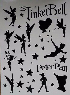 14x Tinkerbell Fairy Peter Pan Vinyl Decal Stickers Car Wall Mug 18 COLOURS