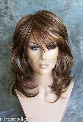 LARGE FIT.   3Tone Deep Auburn/Copper/Blonde Multi layers Med/Long Sarah Wig