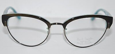 Paul Smith PM 8195 1345 Cat Eye Olive Tortoise Teal Harlyn Eyeglasses 50mm NIB