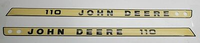 John Deere Tractor Decals Model 110 M46980 M46981 Serial Numbers 100,001 and up