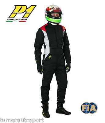 P1 Pro-3 FIA Approved 3Layer Race Suit Black or Grey Size: 5 Sparco 56/58 OMP 54