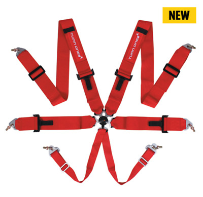Turn One 2017 FIA 6pt Harness Race Rally Track Comp Drift RED or BLACK (PACK)