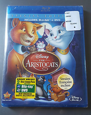 The Aristocats (Blu-ray/DVD, 2012, 2-Disc Set, Special Edition) NEW!! DISNEY