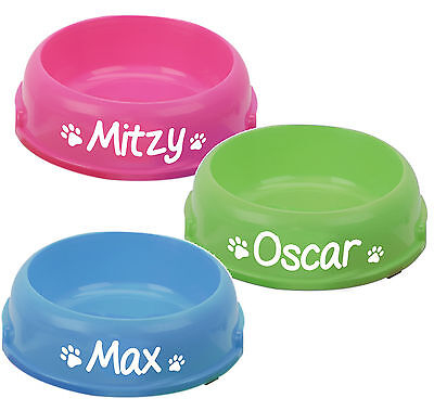Personalised Single Feeding Bowls, Add any name, Dog, For Food or Water
