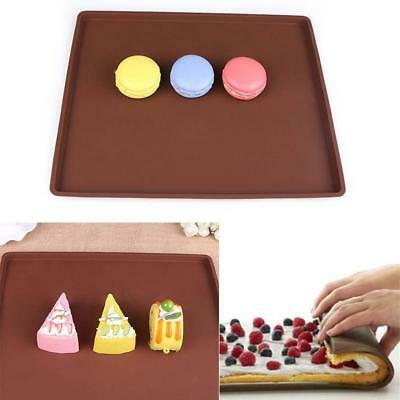 Flexible Silicone Pastry Cookie Cooking Mould Cakes Roll Baking Pan Sheet Pad HX