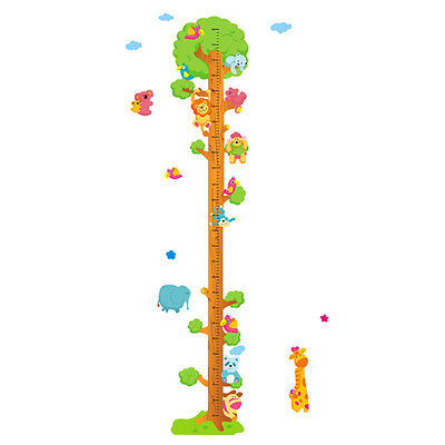 Children Height Chart Tree Measure Ruler Wall Sticker Kid Room Decal Growth Care