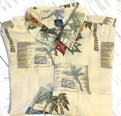Hibiscus Collection Hawaii Tropical Button Down Shirt