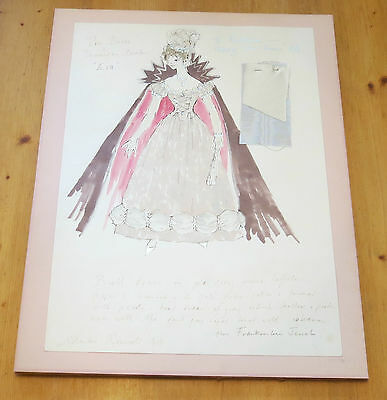 Signed Shirley Russell costume design for The Bride (1985 film) - FREE P&P