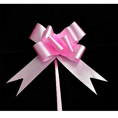 50mm Large 10 Pull Bow Pink Ribbons Wedding Floristry Car Gift Decorations