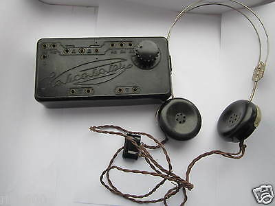 Antique rare crystal radio Komsomolets Soviet Union. USSR.Detector radio.