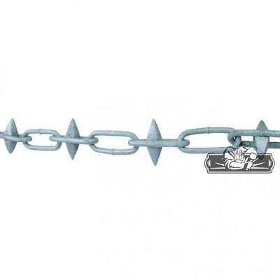 Galvanised Steel Spiked Chain (Sold Per Metre) - Every Link Spikes