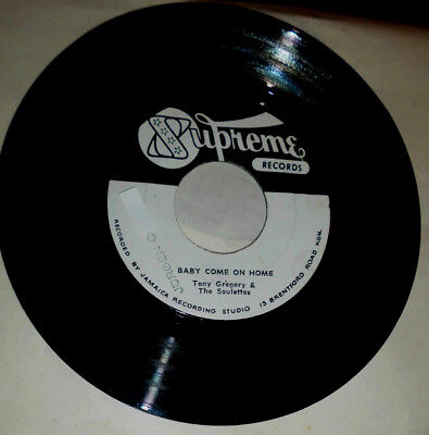 """Tony Gregory Baby Come On Home (& The Soulettes) / Maria Elena 7 """" Single"""