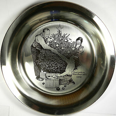 Franklin Mint Pure .925 Sterling Silver Plate - Trimming The Tree - 6.5 Oz!