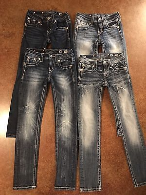 Girls Miss Me Skinny Jeans Size 8, Lot of 4 Pair
