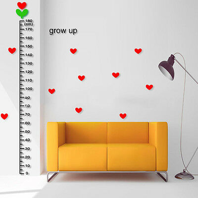 Children Growth Chart Cute Measure Height Ruler Kid Baby Room Wall Sticker Decal