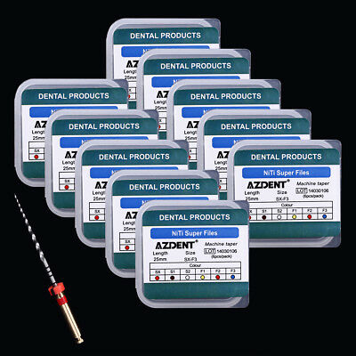 15 Box Dental Endo NiTi Engine Use Rotary Super Files 25mm 6pcs /Pack AZDENT