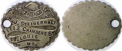 Internation Order Of Odd Fellows FOB H.J. Steigerwalt St. Louis Missouri