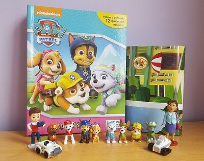 NEW Paw Patrol (Girls) My Busy Book + 12 Figurines & Playmat - Cake Toppers