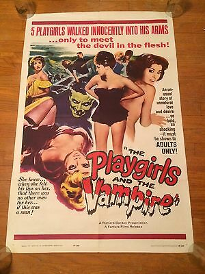 PLAYGIRLS AND THE VAMPIRE 1963 original US one sheet Movie Poster