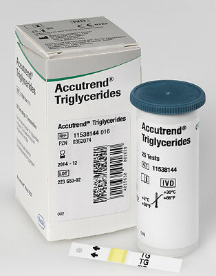 1 Box Accutrend Test Strips for Triglyceride 25 Strips - Exp :05/2018