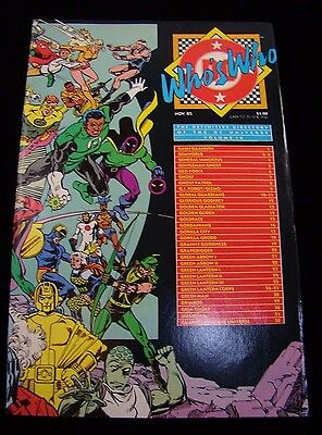 Who's Who: The Definitive Directory Of The Dc Universe Vol Ix Nov 1985
