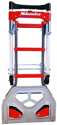 Milwaukee 2 in 1 Convertible Fold up Truck Vertical Horizontal Bungee Cord Dolly