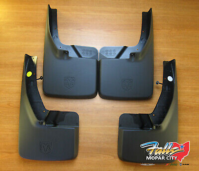 09-2017 Dodge Ram Front and Rear Deluxe Molded Splash Guards Mud Flaps Mopar OEM