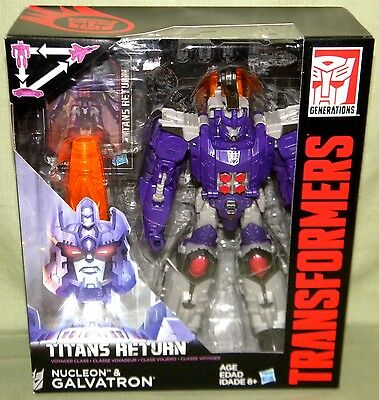 GALVATRON & NUCLEON Transformers Generations Titans Return Voyager 2016