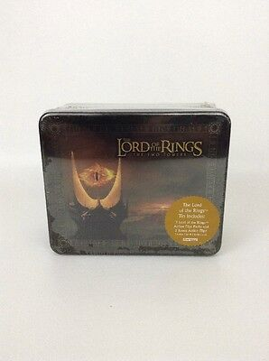 Lord of the Rings Two Towers 2003 Collectible Action Flipz Tin w 3 Packs + Bonus