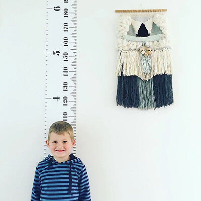 Baby Height Growth Chart Hanging Ruler Kid Child Room Wall Wood Frame Home Decor