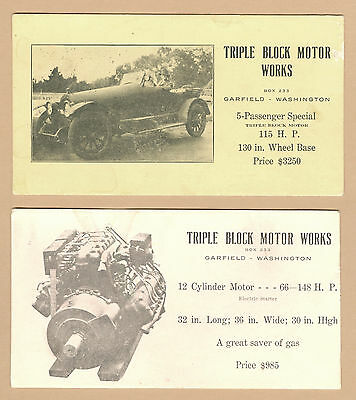 Auto Sales Ad @1930 Features Ford Model A Roadster, Garfield WA Dealer