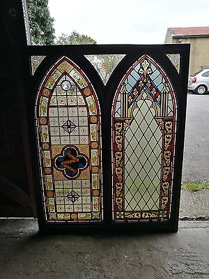 Stained glass leaded light church window