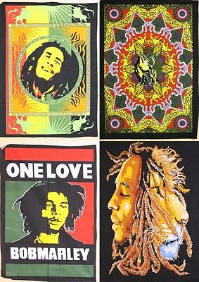 Bob Marley One Love Smoke Double Face Poster Hippie Tapestry Wall Hanging Throw