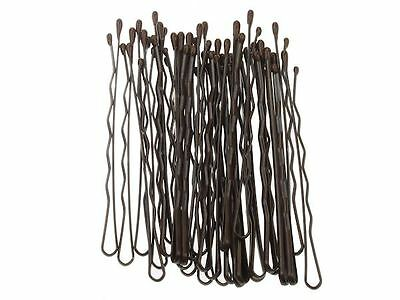 30 x 6.5cm Brown Kirby Hair Grips Hair Clip Slides Bobby Pin Hair Accessory