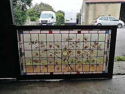 Stained glass victorian window
