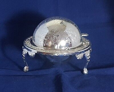 Beautiful Silver Plated Butter Dish