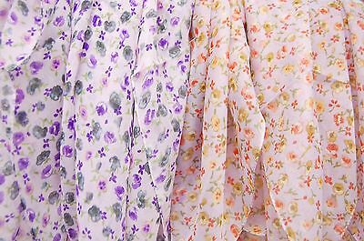 Wholesale Lot of 6 Scarves, 21 Inches Square, 100% Polyester in Peach and Purple