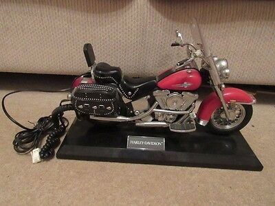 Red Harley Davidson Heritage Soft Tail Motorcycle telephone - works
