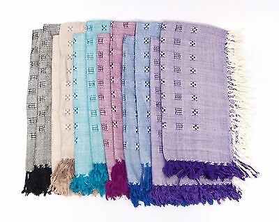 """Wholesale Lot of 192 Scarves (73 cents each): 30"""" Square, Six Colors, 100% Rayon"""