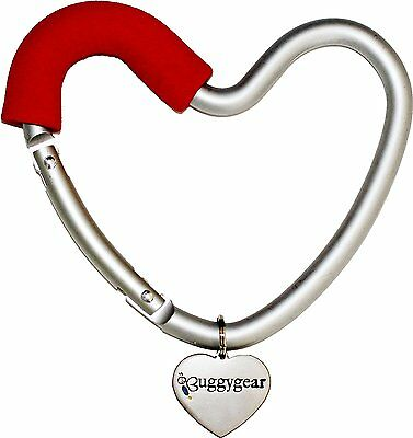 Buggygear Heart Hook, Red/Silver