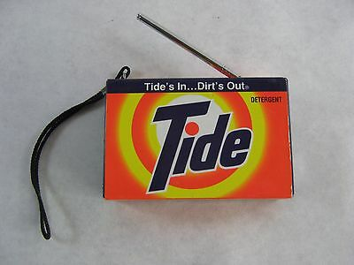 TIDE Detergent AM/FM Transistor RADIO Advertising NASCAR Sponsor Working 1994