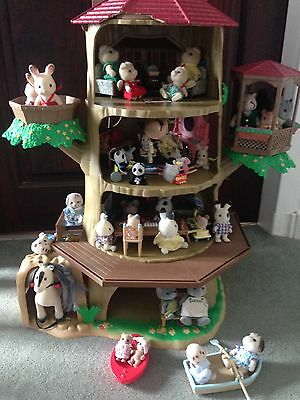 sylvanian families old oak hollow tree house 163 35 00
