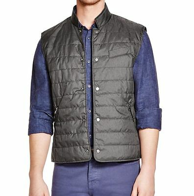 The Men's Store Bloomingdales Black Button-Down Quilted Vest S