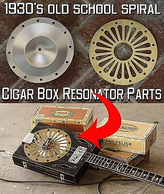 Cigar Box Guitar Resonator cover and cone Build 3 or 4 string with the CBG Disc
