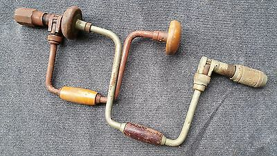 2 U Shaped Antique Manually operated Drills