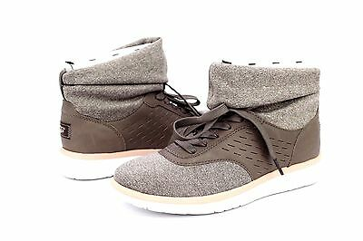118690f9659 UGG ISLAY LEATHER Spandex Knit Mole High Top Sneakers Size 8 Us